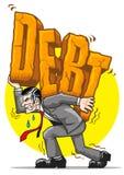 大量的负债 库存图片