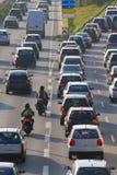 大量高速公路业务量 免版税库存照片