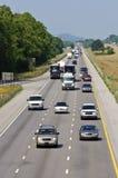 大量高速公路业务量 免版税库存图片