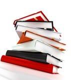 大量4本的书 免版税库存图片