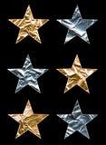 大金属星形 库存例证