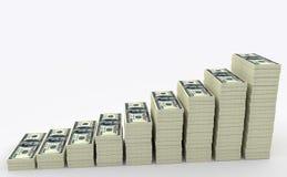 大金钱堆 计算器概念财务货币 免版税图库摄影