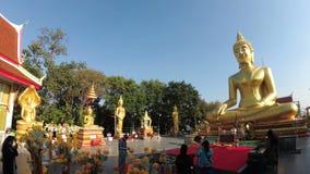 大金黄菩萨,芭达亚寺庙  泰国 股票视频