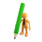 大铅笔人员 库存例证
