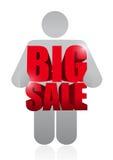 大销售具体化企业标志 免版税库存照片