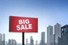 大销售在广告牌的黑星期五注意 库存图片