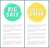 大销售特价优待广告贴纸被设置的标签 图库摄影