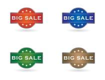 大销售额集合盾符号 免版税库存图片