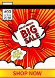 大销售额 最后的销售海报或飞行物设计 在五颜六色的背景的销售 也corel凹道例证向量 库存图片