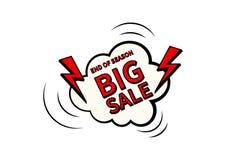 大销售额 最后的销售海报或飞行物设计 在五颜六色的背景的销售 也corel凹道例证向量 免版税库存照片