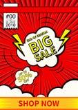 大销售额 最后的销售海报或飞行物设计 在五颜六色的背景的销售 也corel凹道例证向量 图库摄影
