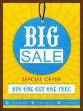 大销售飞行物、横幅或者海报设计 免版税库存照片