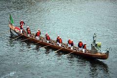 大长平底船布拉格 免版税库存图片