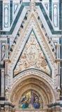 大门圣玛丽亚del菲奥雷-佛罗伦萨圆顶 免版税库存照片