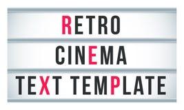 大门罩标志lightbox标志 传染媒介减速火箭的戏院或剧院牌广告牌 皇族释放例证