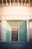 大门pf卡塔拉圆形剧场,多哈,卡塔拉 免版税图库摄影