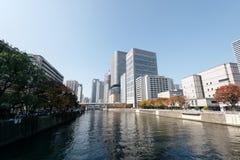 大阪中心商务区 免版税库存照片