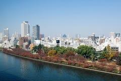 大阪中心商务区 库存照片