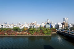 大阪中心商务区 免版税库存图片
