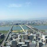 大阪从上面 免版税库存图片
