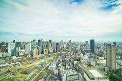 大阪南看法从梅田的 库存图片