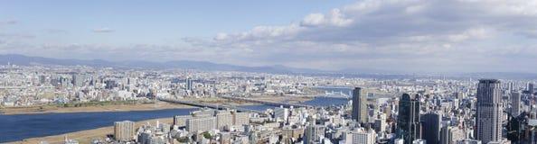 大阪和Toyonaka全景视图  图库摄影