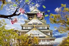 大阪城堡在大阪,日本。 免版税库存照片