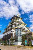 大阪城堡在大阪,日本 库存照片