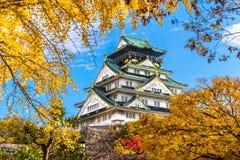 大阪城堡在大阪,日本 免版税库存照片