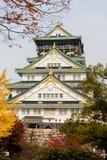 大阪城堡在大阪,日本 图库摄影
