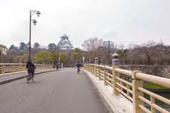 大阪城堡在大阪,日本 免版税库存图片