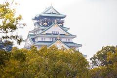 大阪城堡在大阪,日本 库存图片