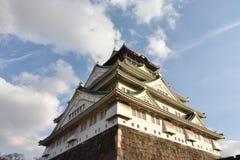 大阪城堡在平衡的大阪,日本 免版税库存图片