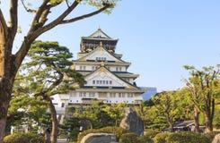 大阪城堡在日本的夏天 免版税库存图片
