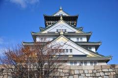 大阪城堡在Chuo-ku,大阪,日本 免版税库存照片