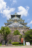 大阪城堡或大阪jo,大阪lanmark在日本 库存照片
