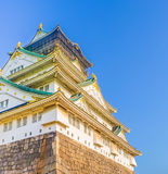 大阪城堡,大阪,日本 图库摄影