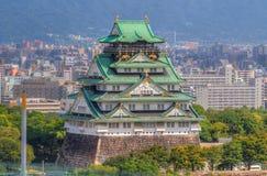 大阪城堡sightview 免版税图库摄影