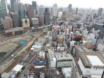 大阪市,从梅田天空大厦的一个看法 库存图片