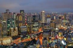 大阪日本地平线  库存照片