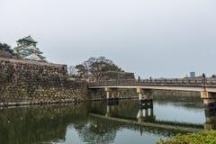 大阪日本城堡 免版税库存图片