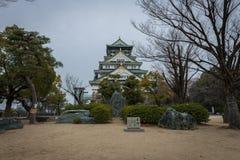 大阪日本城堡 免版税图库摄影