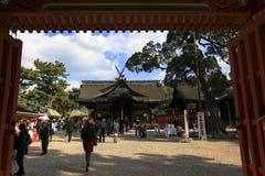 大阪日本Sumiyoshi Taisha寺庙著名寺庙旅行旅游业地标  库存照片