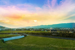 从大阪郊外的场面  图库摄影
