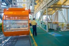 大阪,日本- 2017年7月18日:关闭Tempozan弗累斯大转轮大阪,日本 轮子有高度112 5米 免版税库存照片