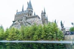 大阪,日本- 2016年11月21日:哈利・波特Wizarding世界  库存图片