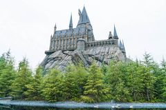 大阪,日本- 2016年11月21日:哈利・波特Wizarding世界  库存照片