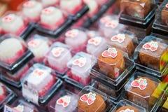 大阪,日本- 2017年11月19日:甜点心在Kuro的待售 库存图片