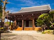 大阪,日本- 2017年7月02日:美丽的老历史寺庙在大阪 免版税库存照片