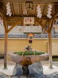 大阪,日本- 2017年7月02日:美丽的老历史寺庙在大阪 库存图片